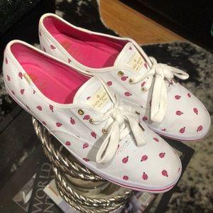 Kate Spade x Keds Pink Lady Bug Tennis Shoe